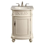 Astoria Grand Ambudkar 24'' Single Bathroom Vanity Set; Antique White