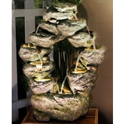 Alpine 7 Tier Cascading Rock Fountain w/ LED Light