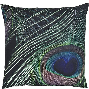 Eightmood Classic Trend Peacock Feather Cotton Throw Pillow