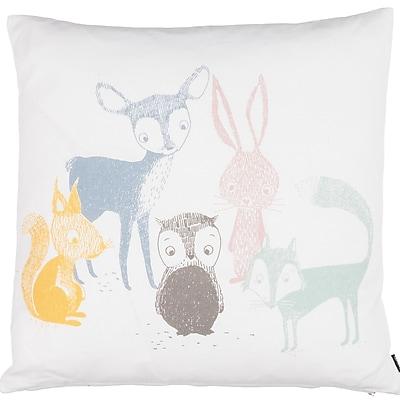 Eightmood Kids Best Friends Cotton Throw Pillow
