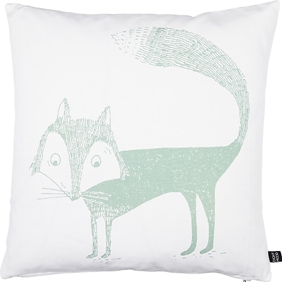 Eightmood Kids Fox Cotton Throw Pillow