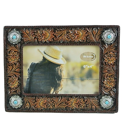 De Leon Collections Tooled Flower Picture Frame