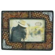 De Leon Collections Tooled Leather Picture Frame