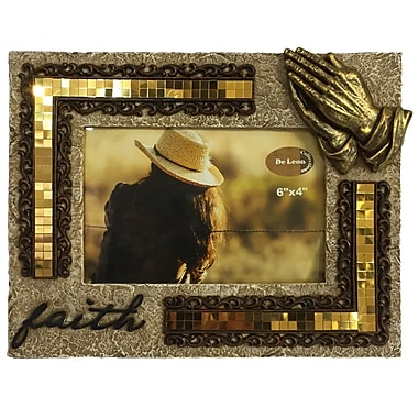 De Leon Collections Faith Praying Hands Picture Frame
