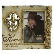 De Leon Collections Fleur De Lis Home Picture Frame