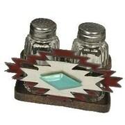 De Leon Collections Southwest 2 Piece Salt and Pepper Holder Set
