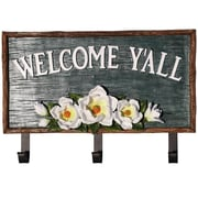 De Leon Collections Magnolia Welcome Sign Wall Hook
