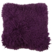 Eightmood Essentials Fuyu Mongolian Throw Pillow; Dark Purple
