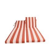 Bellini Outdoor Sunbrella Chaise Lounge Chair Cushion; Cabana Flame