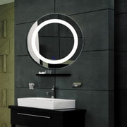 Fab Glass and Mirror Modern Bathroom LED Lighted Vanity Wall Mirror