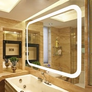 Fab Glass and Mirror LED Lighted Vanity Wall Mirror