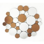 Fab Glass and Mirror Coins in the Fountain Round Decorative Wall Mirror