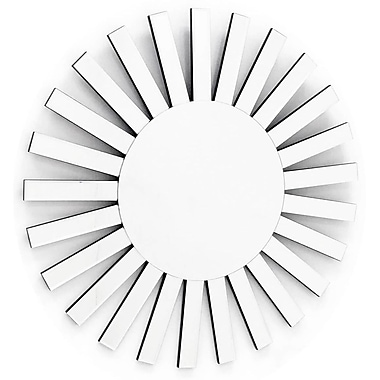 Fab Glass and Mirror The Rising Sun Decorative Sunburst Wall Mirror