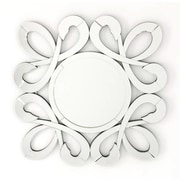 Fab Glass and Mirror Fiori Stylish Frame Round Decorative Wall Mirror