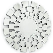 Fab Glass and Mirror The 4 Seasons Stylish Round Frame Decorative Wall Mirror