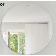 Fab Glass and Mirror Round Beveled Polished Frameless Wall Mirror; 24'' H x 24'' W x 4'' D