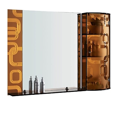Fab Glass and Mirror Wall Mirror; Gold