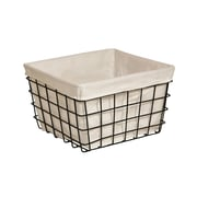 Cheungs Lined Metal Wire Rectangular Storage Basket