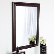 DSOV Dalat Cherry Framed Vanity Beveled Wall Mirror