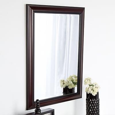 DSOV Dalat Cherry Framed Vanity Beveled Wall Mirror