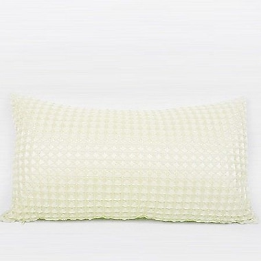 G Home Collection Luxury Textured Checkered Lumbar Pillow
