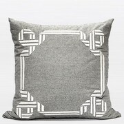 G Home Collection Luxury Textured Frame Embroidered Throw Pillow