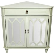 Darby Home Co Hannah Wooden Corner Cabinet w/ 1 Drawer and 2 Doors; Light Green