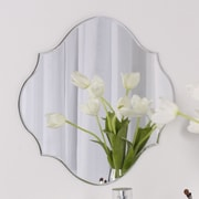 DSOV Reign Frameless Oval Scalloped Beveled Wall Mirror; 16'' H x 20'' W