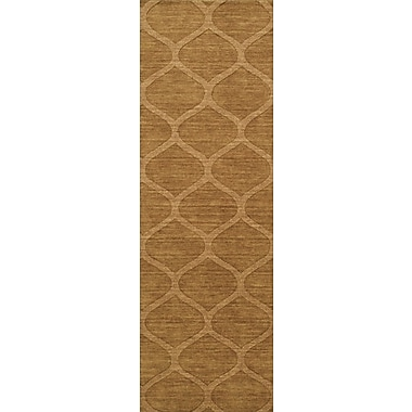 Darby Home Co Revere Hand-Loomed Golden Brown Area Rug; Runner 2'6'' x 8'