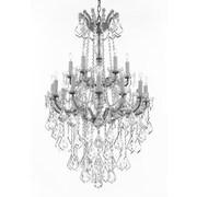 Astoria Grand Alvarado 18-Light Crystal Chandelier; Silver