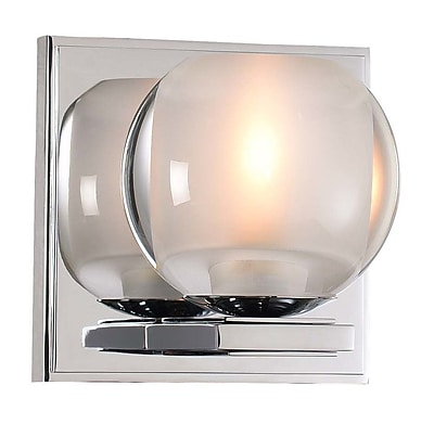 Kalco Corona 1-Light LED Bath Sconce; Chrome