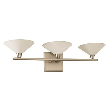 Kalco Galvaston 3-Light LED Vanity Light; Satin Nickel