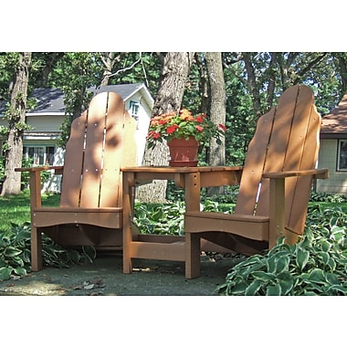 TailwindFurniture Traditional Adirondack Tete-a-Tete Bench; Cedar