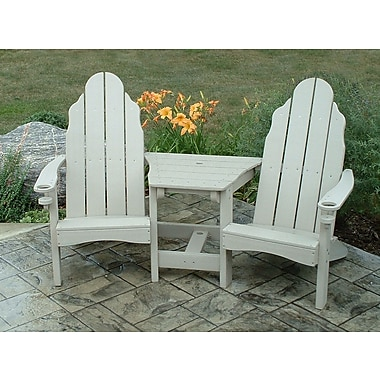 TailwindFurniture Traditional Adirondack Tete-a-Tete Bench; Sand