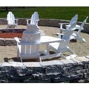 TailwindFurniture Traditional Adirondack Tete-a-Tete Bench; White