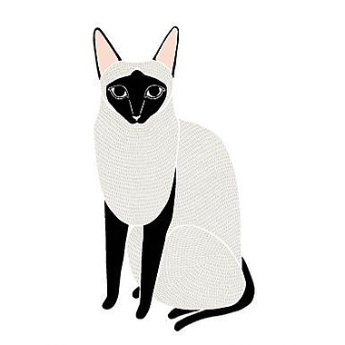 Pop & Lolli Gingiber Siamese Cat Wall Decal
