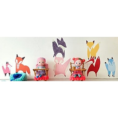 Pop & Lolli Gingiber 7 Piece Friendly Fox Wall Decal Set; Large