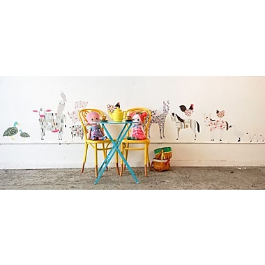 Pop & Lolli Gingiber 18 Piece Barn Yard Animal Wall Decal Set; Large