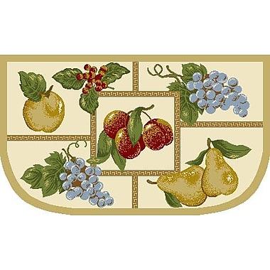 J&M Home Fashions Fruit Slice Kitchen Mat