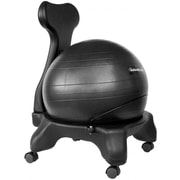 Symple Stuff Exercise Ball Chair; Black