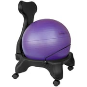 Symple Stuff Exercise Ball Chair; Purple