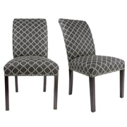 Darby Home Co Francesca Curve Back Upholstered Parsons Chair (Set of 2); Graphite Black