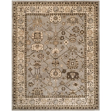 Astoria Grand Colliers Hand-Tufted Silver/Cream Area Rug; 6' x 9'