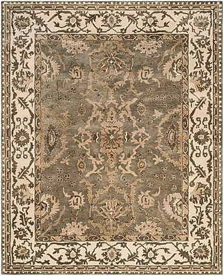 Astoria Grand Colliers Hand-Tufted Gray/Cream Area Rug; Rectangle 8' x 10'