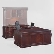 Astoria Grand Drumankelly U-Shape Executive Desk w/ 8 Drawers; Left