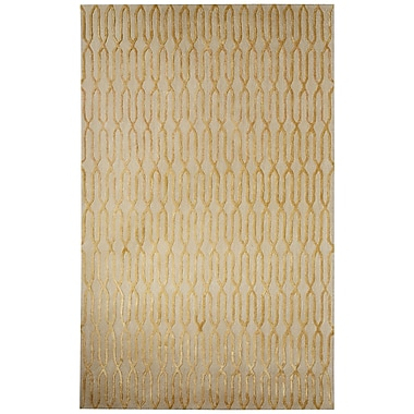 Mercer41 Adelle Hand-Tufted Tan/Yellow Area Rug; 8' x 10'