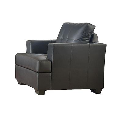 StarHomeLivingCorp Karishma Lounge Chair; Black