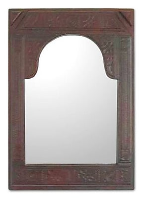 Novica Palace Leather Wall Mirror