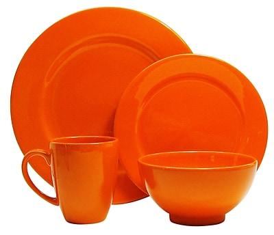 Red Barrel Studio Chartridge 4 Piece Place Setting; Orange WYF078280500807