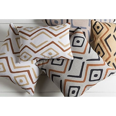 Bloomsbury Market Anders 100pct Linen Lumbar Pillow Cover; Beige/Burnt Orange